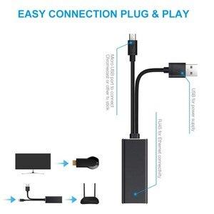 Image 3 - מיני 10/100 mbps רשת טלוויזיה מקל מתאם אש מיקרו USB טלוויזיה מקל Ethernet מתאם עבור Chromecast עבור Google בית