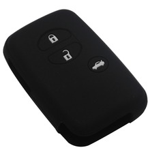 Car Silicone for Toyota Land Cruiser Camry Highlander Crown Prado Prius Car case key set jacket remote With Logo