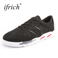 Ifrich Quality Spring Summer Mens Walking Outdoor Sport Shoes Black Gray Male Footwear Lace Up Sneakers