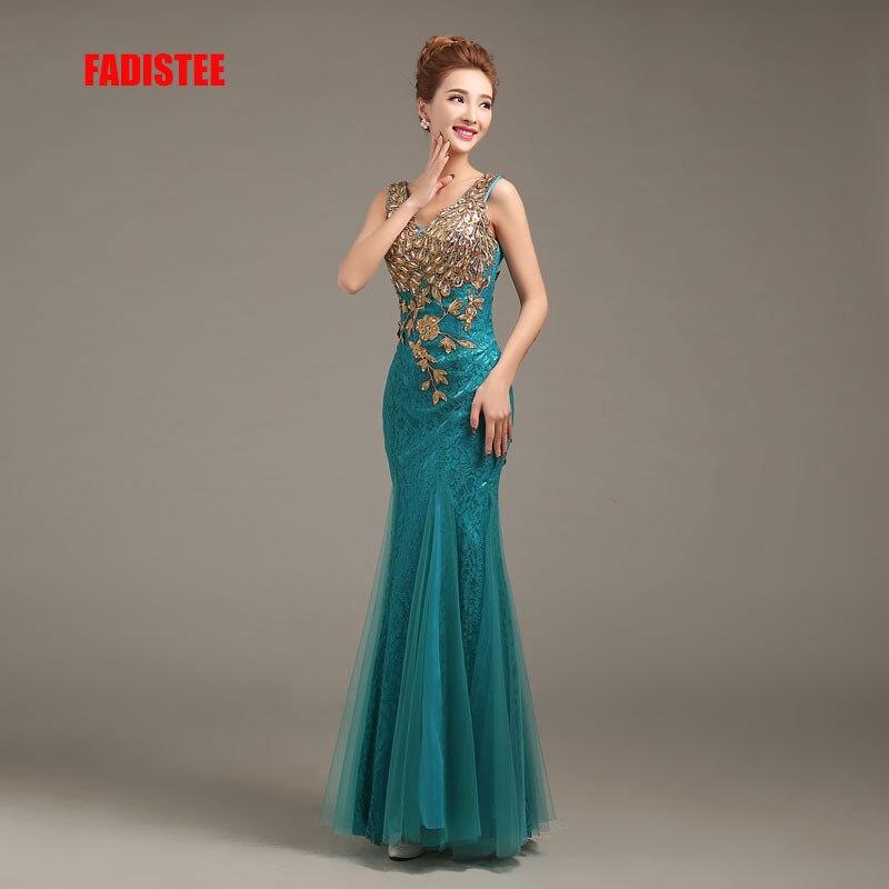 FADISTEE New arrival party legant evening dresses mermaid prom dress Robe De Soiree sleeveless appliques lace