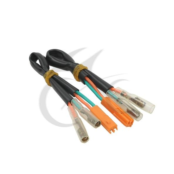 Motorcycle 2x Turn Signal Wiring Adapter Plug For Honda CBR 900 919 929 954 RR