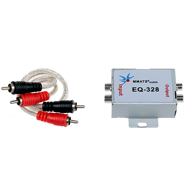 12V Vehicle Car Audio Amplifier Amp Noise Filter RCA Plug LOOP ISOLATOR for DVD Stereos Head Unit Speaker Sub