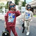 3-14 Years 2016 Girls Clothing Set Spring Autumn Girls Sport Suit Cotton Long Sleeve T Shirt + Pant 2pcs Kids Clothes Set Teens