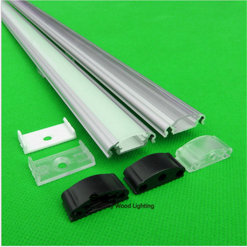 10-30PCS 80inch 2M aluminum profile for led strip,milky/transparent cover for 12mm 5050 5630 5730 hard strip LED bar light 10 40pcs lot 80 inch 2m 90 degree corner aluminum profile for led hard strip milky transparent cover for 12mm pcb led bar light