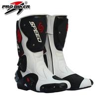 Motorcycle boots pro-biker botas moto speed racing shoes black color