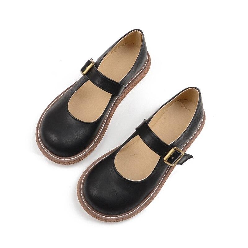 Nouveau japonais belle fille rétro poupée chaussures tête ronde bouche peu profonde fond plat Mary Jane collège vent unique chaussures femmes automne