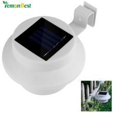 Lemonbest 3 LED Solar Lamp Waterproof Solar Powered Fence Light Sun Power Gutter Outdoor Garden Yard Lamp Roof hed Walkways