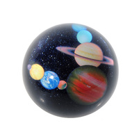 Sistema Solar de 3 pulgadas 3D Pisapapeles De Cristal Patrón Decorativo Media Esfera De Cristal De Recogida de Bolas Mesa de Recuerdo Decoración Del Hogar