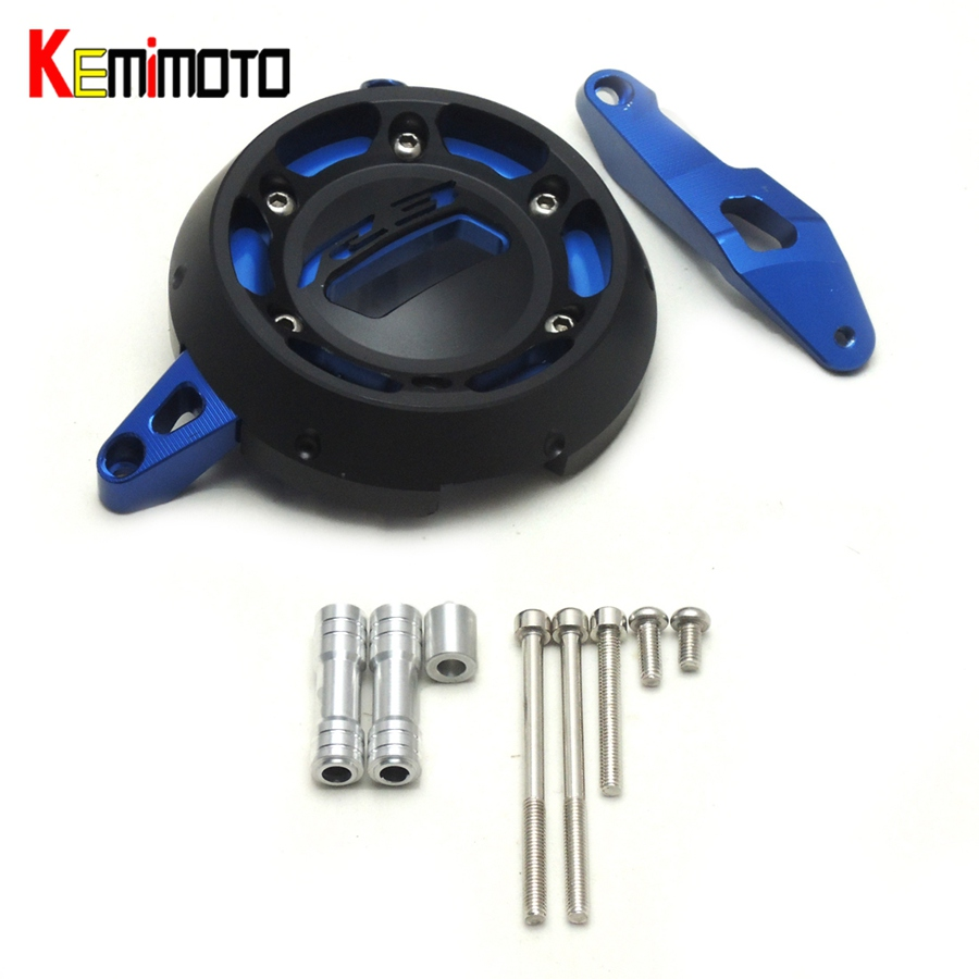 KEMiMOTO For YAMAHA YZF R25 R3 2015 Aluminum Right Side Engine Protective Cover Guard MT-03 MT03 YZF-R3 YZF-25 2014 2015 2016 for yamaha mt 03 2015 2016 mt 25 2015 2016 mobile phone navigation bracket