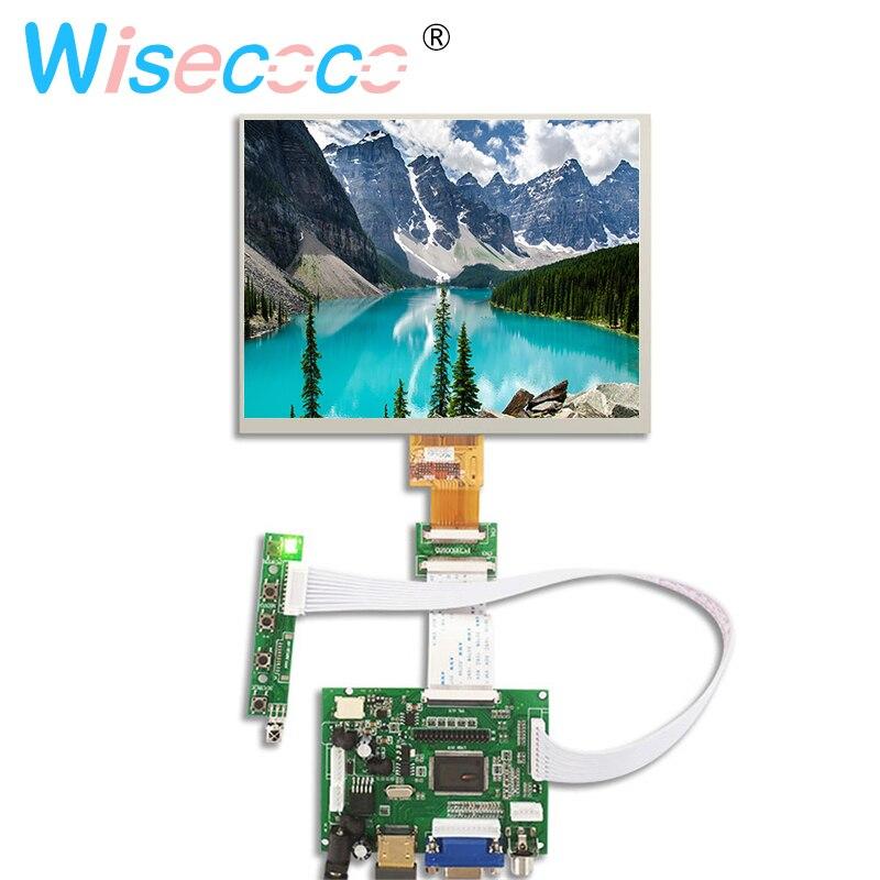 8 pouces écran d'affichage LCD 1024*768 tablette HJ080IA-01E contrôle HE080IA-01D carte de pilote Audio pour Raspberry pi 3B 2 1 HDMI VGA AV