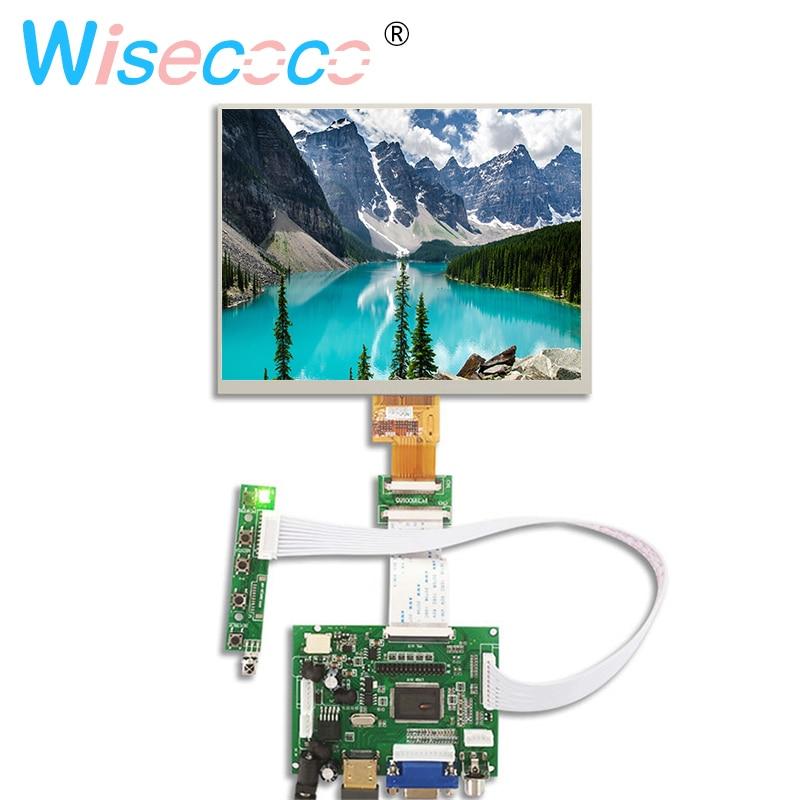 8 pouces LCD écran de visualisation 1024*768 tablet HJ080IA-01E HE080IA-01D Contrôle tableau de bord Audio Pour Raspberry pi 3B 2 1 HDMI VGA AV