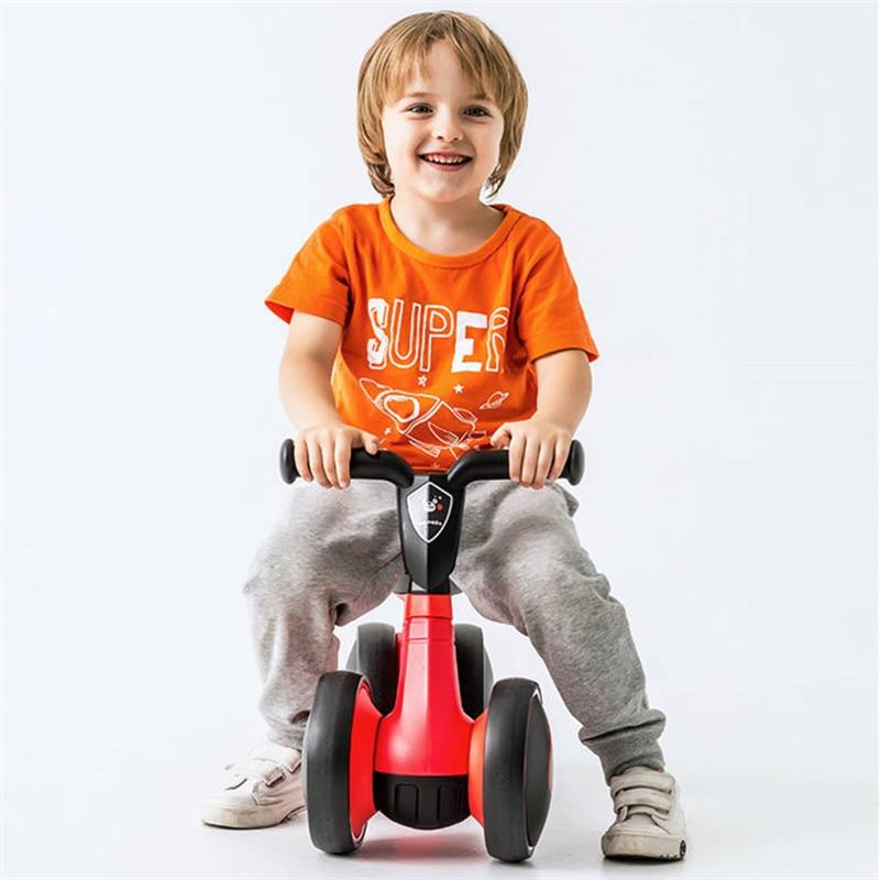 4 Wheels Baby Balance Bike Children Walker No-Pedal Toddler Toys Rides Orange