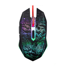 2400DPI USB Wired Mouse Adjustable  7 Color Breathing LED Night Light Gaming Mouse Mice for Computer Laptop Notebook rxe x6 usb wired 800 1600 2400dpi gaming mouse w led light black