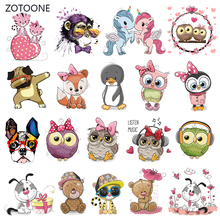 ZOTOONE Unicorn Set Stripes Iron on Transfer Patches Clothing Diy Patch Heat for Clothes Girl T-shirts Sticker M