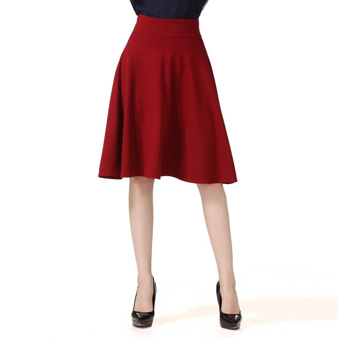 3d0d78d7f Talla grande nueva Falda larga de mujer estiramiento de alta cintura viento  muy grande paraguas de ...