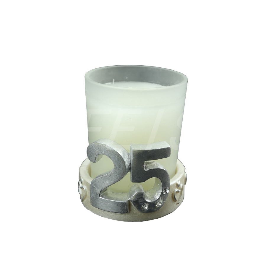 25th Anniversary metal Birthday candle holder Wedding Party ...