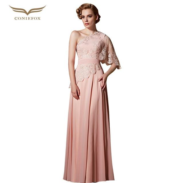 Coniefox 30822 wunderschöne stickerei rosa abendkleid wrap mesh a ...