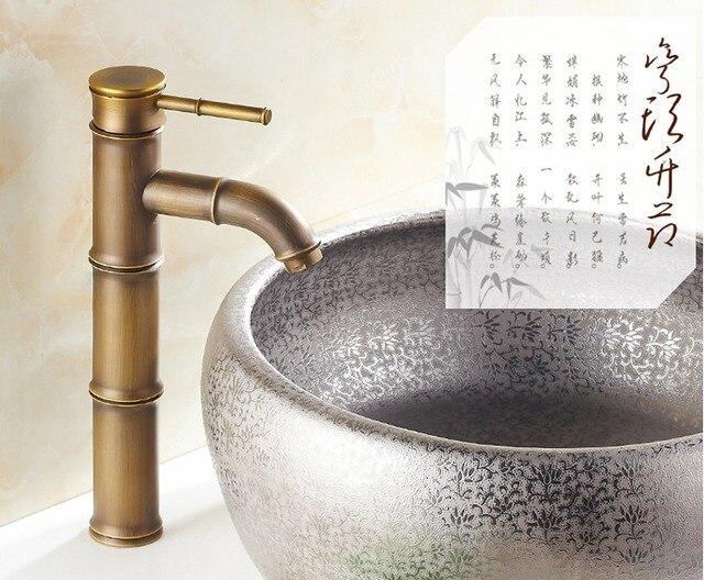 Rubinetto Del Bagno In Inglese : Design moderno bambù antico rubinetto in ottone fshion bacino