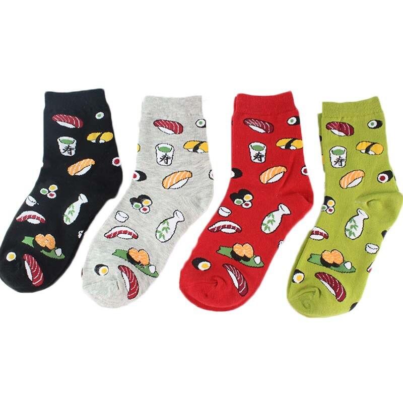 Japan Korea Kawaii fashion creative cartoon life food sushi ladies cotton   socks