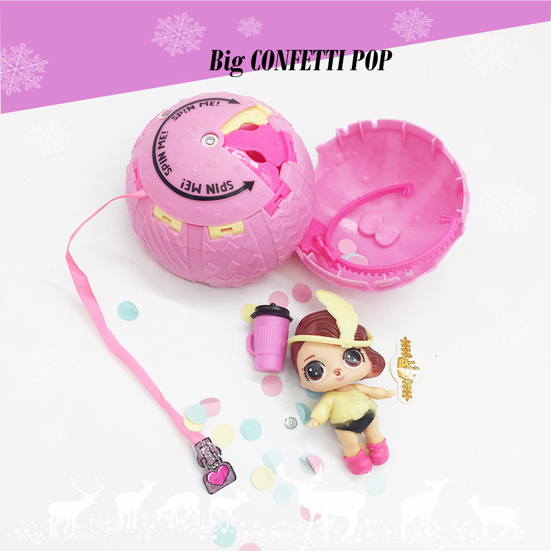 2018 New Big Lol Dolls Confetti Pop Series 3 Funny Lol Magic Ball Action Figure Toys Color Change Baby Tear For Girl Party Gifts детский шар funny ballsdiameter 2m 78 big sized ball