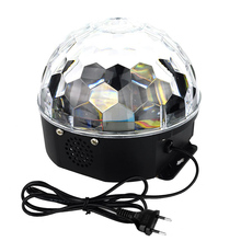 LED Stage Lamps 20W Magic Ball RGB Color Stage Light Disco Voice Activated LED RGB Crystal Magic Ball Effect Light