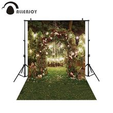 Allenjoy весенний цветок Арка Дверь фон Сад Свадьба Природный Ночной Пейзаж Портрет фон фотография фотосессия ткань