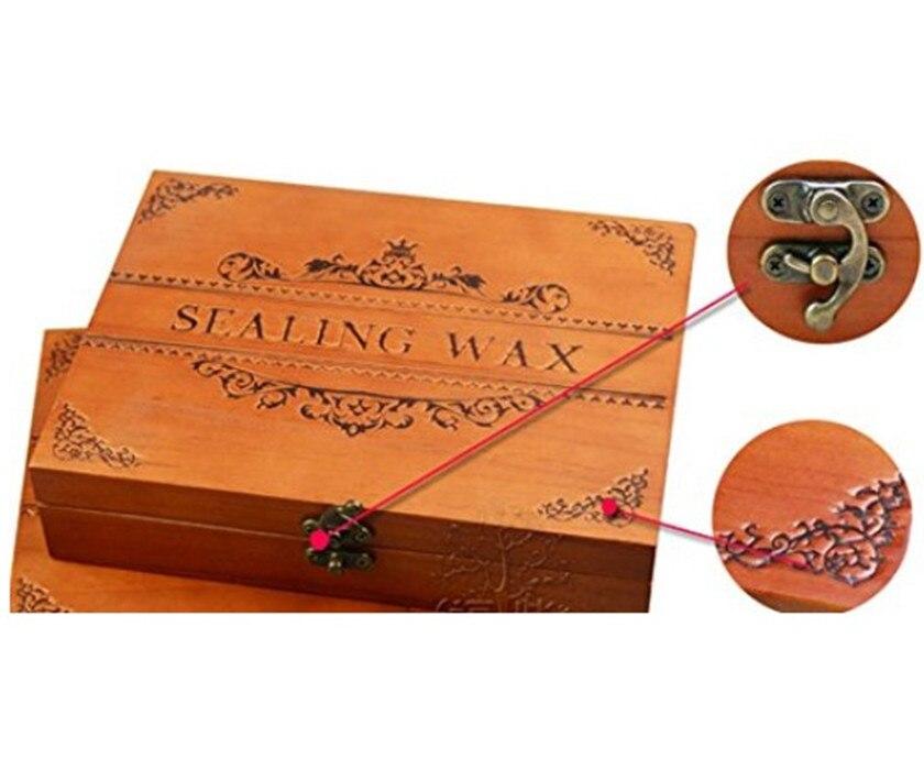 Vintage Christmas Bell Ring Luxury Wax Seal Sealing Stamp Brass Peacock Metal Handle Sticks Melting Spoon Wood Gift Box Set