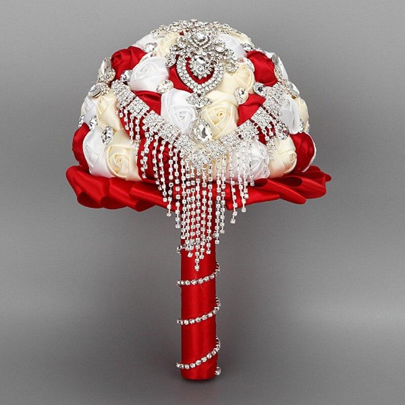 Handmade High Quality Wedding Bouquet Bridal Bride Silk Rose Flower ...