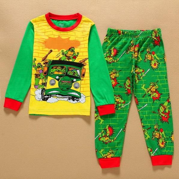 2 Stücke Kinder Baby Pyjamas Set Kleinkind Kid Jungen Mädchen Cartoon Print Pijamas Langarm Pyjamas Set Tops Lange Hosen Nachtwäsche 2-7 Y