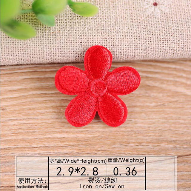 Multicolor Flower Embroidery Patch Heat Transfers Iron On Sew On Patches for DIY Clothes Stickers Decorative Appliques 47207