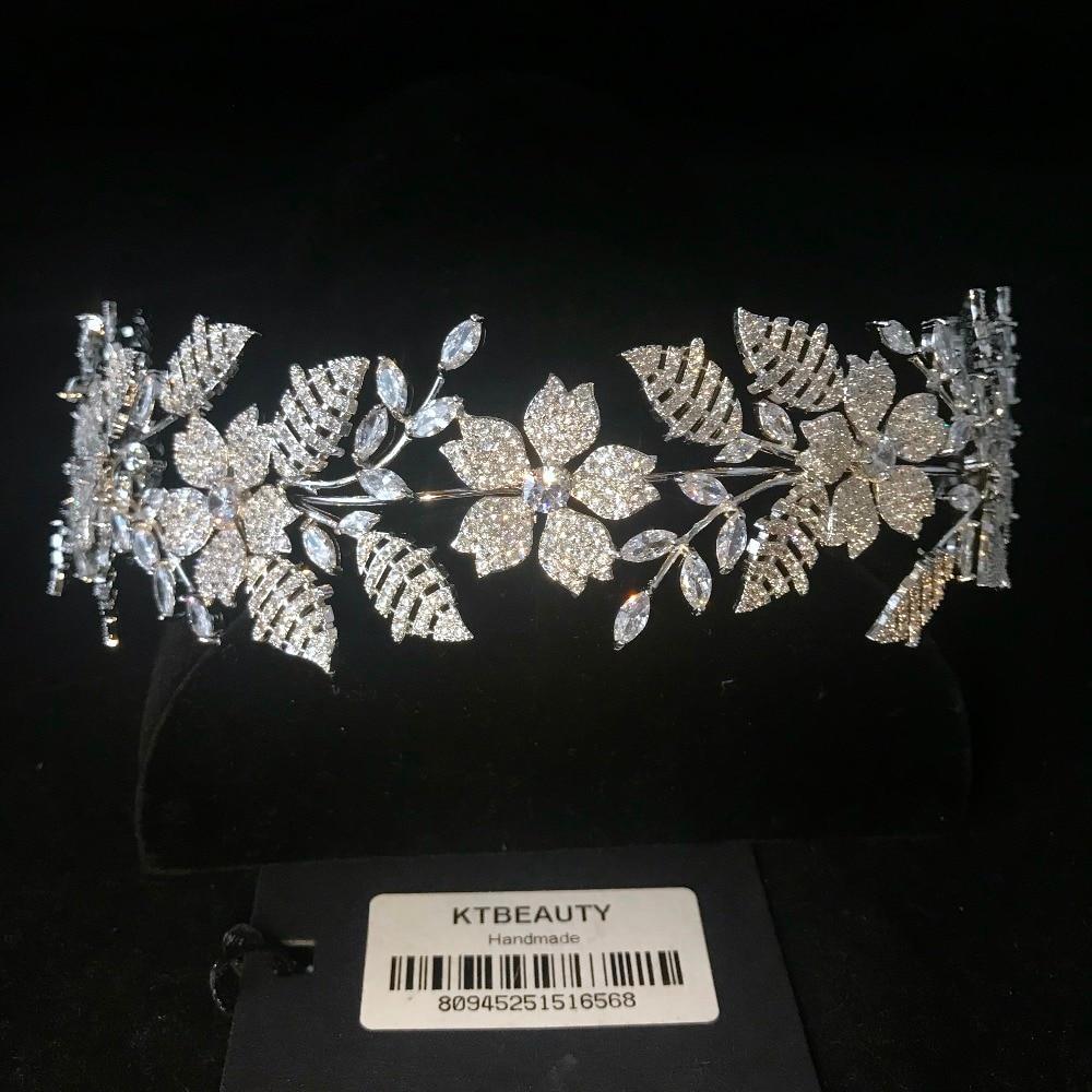 Nueva diadema de circonita de diamantes de imitación hecha a medida Tiara flores de moda diadema de novia real accesorios de la Corona joyería de las mujeres-in Joyería para el cabello from Joyería y accesorios on Aliexpress.com   Alibaba Group