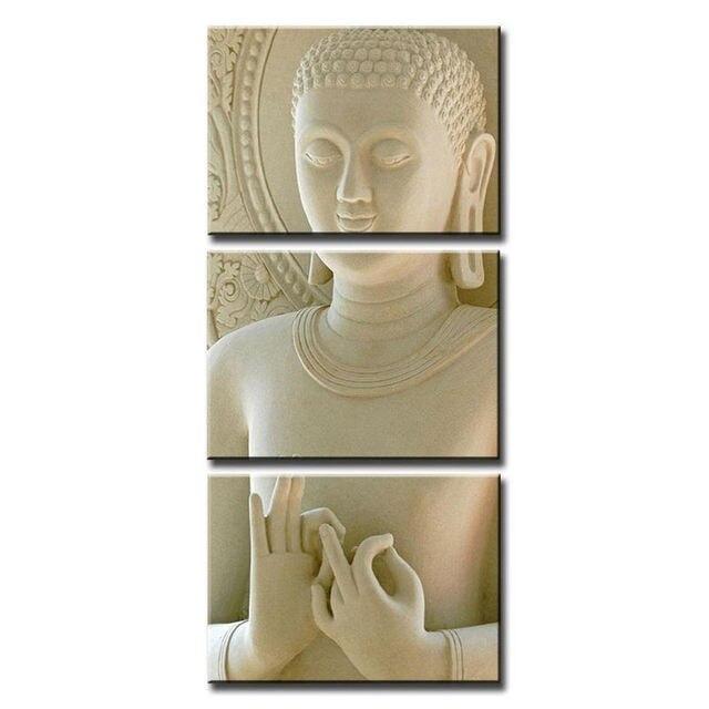 Zen Wall Decor aliexpress : buy 3 panels canvas prints zen art wall decor
