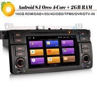 7 Quad Core Android 8.1 Autoradio Sat Nav DAB+ WiFi 4G Car GPS Navigation Bluetooth for BMW 3er 320 E46 MG ZT M3 Rover 75