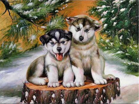 Diamond Painting Pictures Paintings By Numbers Diamond Mosaic Dogs Sharpei 5D Diamond Embroidery Lover Dog Animals Pattern Type