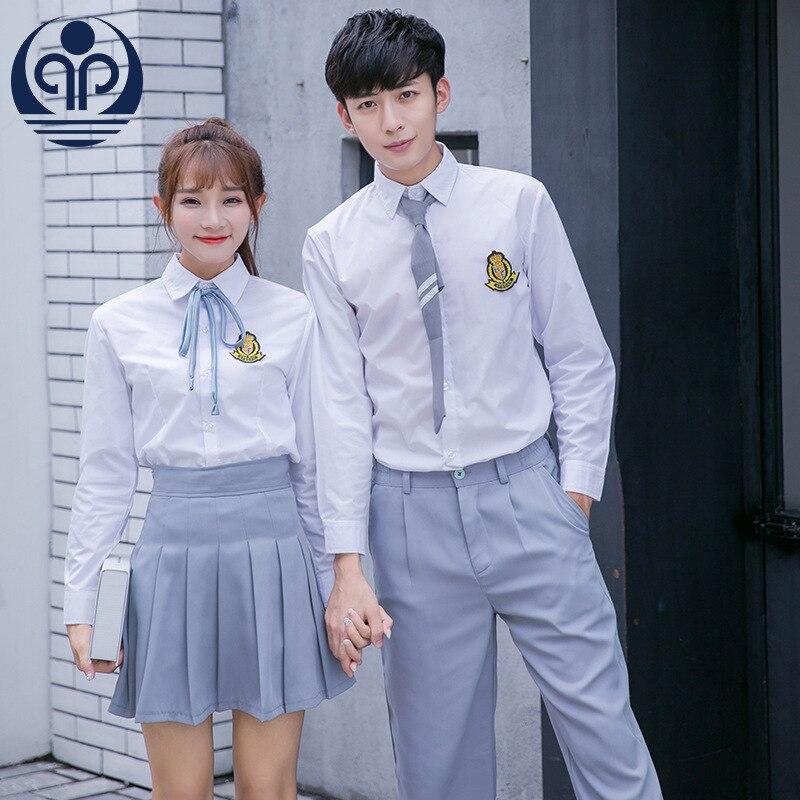 New Style School Uniform Japan Style Sailor Clothes Student Uniforms Long Sleeve Set England Class Wear Uniforms D-0587