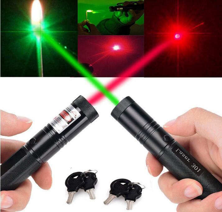 Green Red Laser Pen Portable 532nm Lazer high power light burning lasers 303 presenter laser pointer extreme bright safe key laser hijau jarak jauh