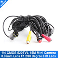 15m Cable underwater Mini IR Camera 520TVL CCTV Camera With 8Pcs 850nm White Lights IR For Underwater Fishing Or Fish Finder