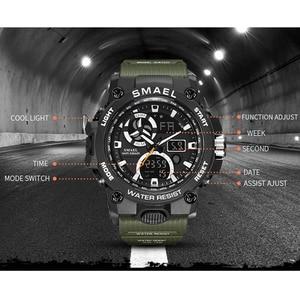 Image 4 - SMAEL 2020 Sport Watch Men Dual Time Waterproof 50M Miliatry Watches Chrono Alarm Wristwatch Vintage Classic Digital Watch 8011