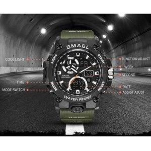 Image 4 - SMAEL 2020 montre de Sport hommes double temps étanche 50M miliatrie montres Chrono alarme montre bracelet Vintage classique montre numérique 8011