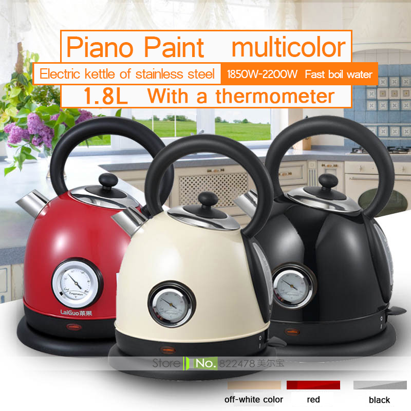 JZ19/1.8L/1800W New Intellective Ultra Mute Energy-efficient Electric Kettle Heat Preservation Baby Food Stainless Steel 4Colors energy efficient architecture