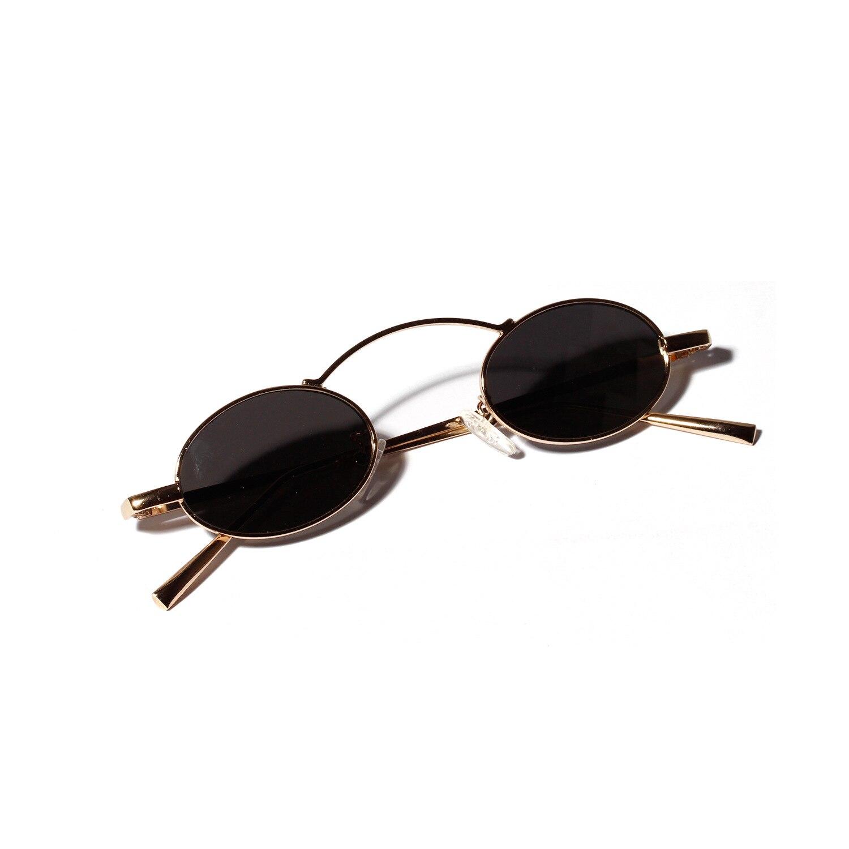 Marques Rétro Petites lunettes de Soleil Rondes Hommes Mâle Vintage punk  Ovale Lunettes De Soleil Femmes ... d5a8bc5dec56
