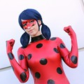 2017 Kids Adult Miraculous Ladybug Cosplay Costume With Mask Ladybug Romper Costume Cat Suit Halloween Women Ladybug Costume