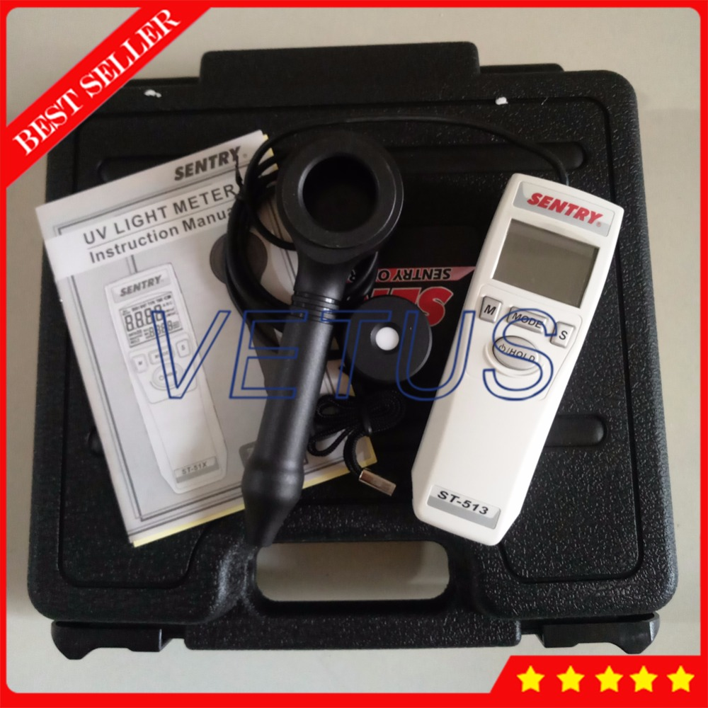 ST 513 Ultraviolet Radiation Detector Price with UV Light Meter 4 Digits dual display UVC UVA
