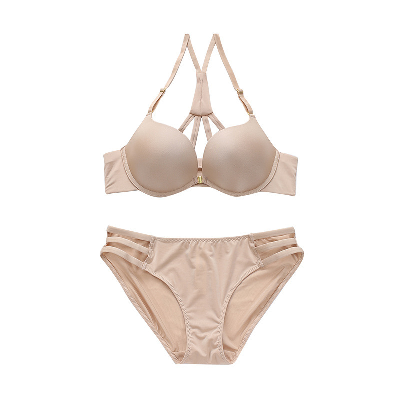 sexy mousse front closure sexy women underwear bra and panties sets new arrival white black young girl beautiful back in Bra Brief Sets from Underwear Sleepwears