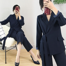 autumn Office lady Loose Casual suit set female Formal pant