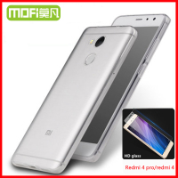 Xiaomi Redmi 4 Pro Case Prime Silicone Cover Redmi4 Glass Tempered Xiomi Xaomi Redmi 4 Screen