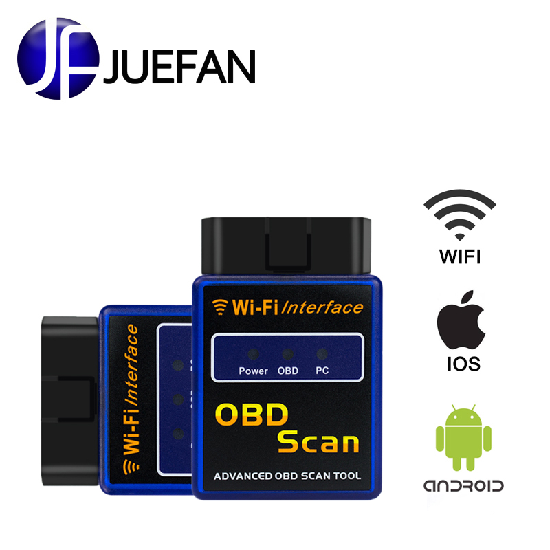 new easydiag Wi-Fi obd2 wifi CAN-bus interface ELM 327 scanner obd 2 Support Android / IOS / PC ELM327 Auto diagnostic scanner