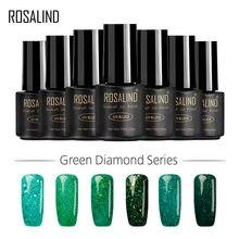 Rosalind esmalte em gel uv/led colorido, esmalte de alta qualidade em gel verde para unhas, 1s 7ml mergulhar off unhas art gel lacquer