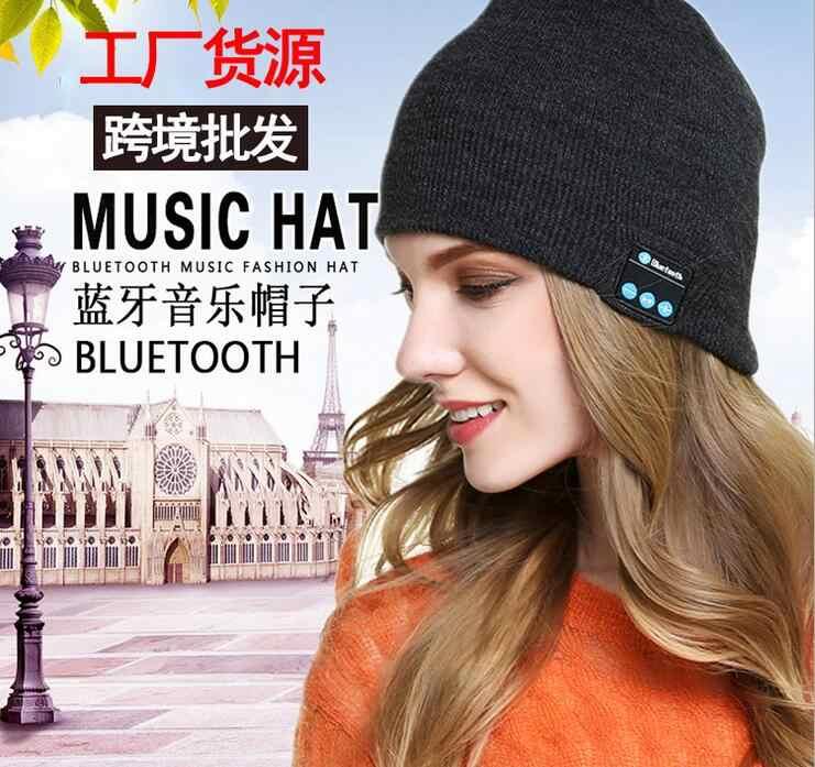 موضة جديدة قبعة صغيرة قبعة بلوتوث 4.0 سماعة سماعة الذكية سماعة الرأس هيئة التصنيع العسكري الشتاء في الهواء الطلق الرياضة ستيريو الموسيقى قبعة