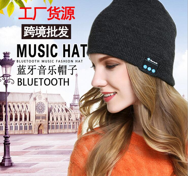 New Fashion Beanie Hat Cap Bluetooth 4.0 Earphone Smart Headset headphone Speaker Mic Winter Outdoor Sport Stereo Music Hat sport bluetooth music hat cap handsfree headset headphone built in speaker mic